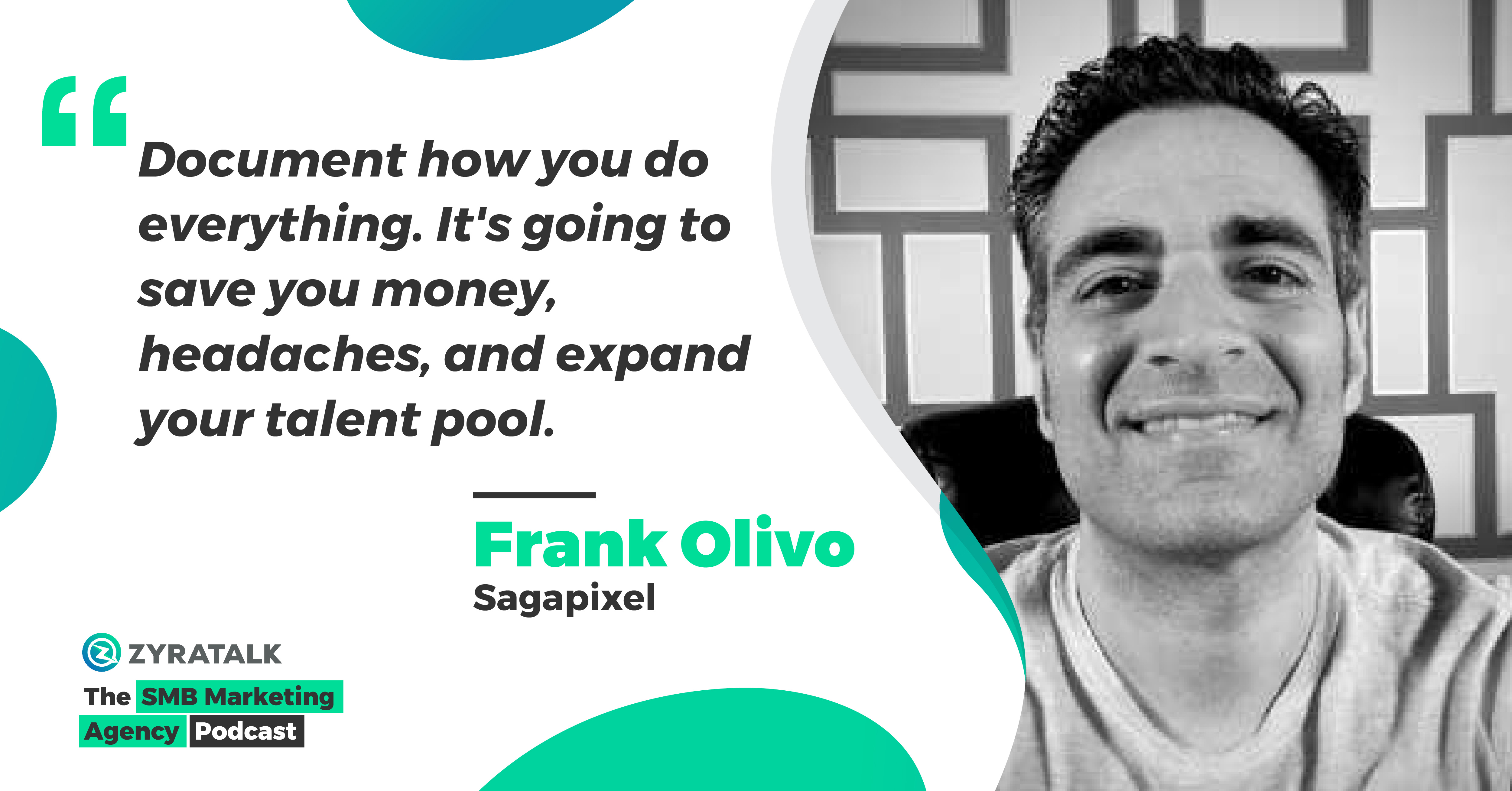 marketing podcast for small business frank olivo sagapixel